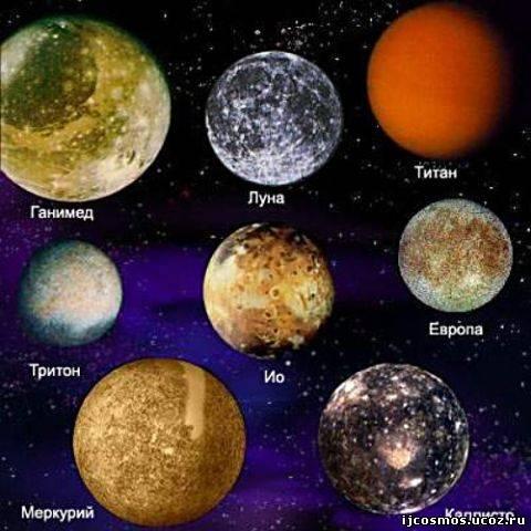 Спутники планет Солнечной системы и планета Меркурий в чем-то похожи