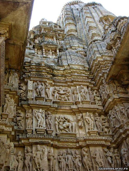 Храм Любви Каджурахо, Индия. Скульптуры на стенах храма - Знаменитые